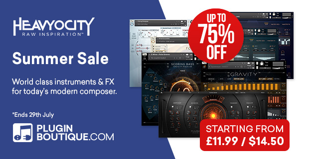 Heavyocity Summer Sale, save up to 75% off at Plugin Boutique