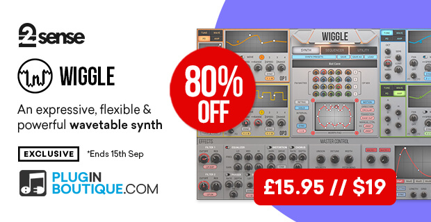 2nd Sense Audio Wiggle (Exclusive), save 80% off at Plugin Boutique