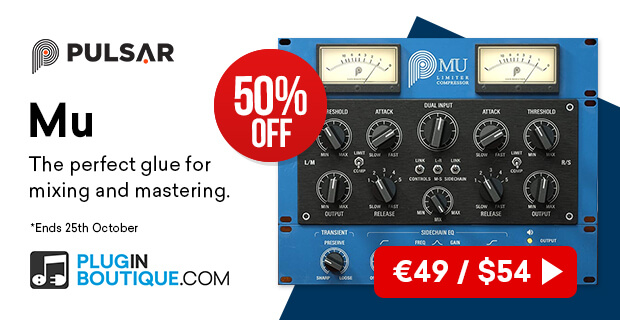 Pulsar Mu Introductory Sale, save 50% off at Plugin Boutique