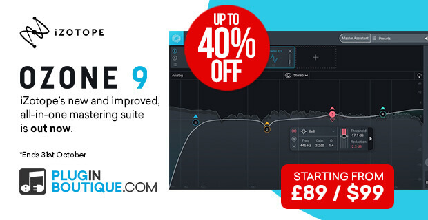 iZotope Ozone 9 Sale: Save at Plugin Boutique