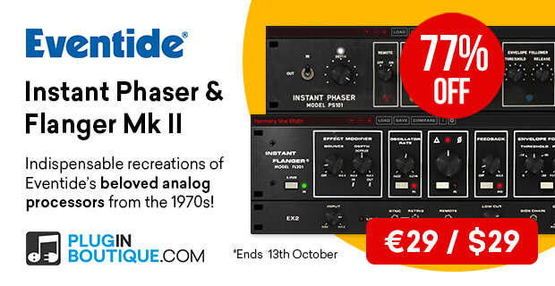 Eventide Instant Phaser & Flanger Mk II, save 77% off at Plugin Boutique