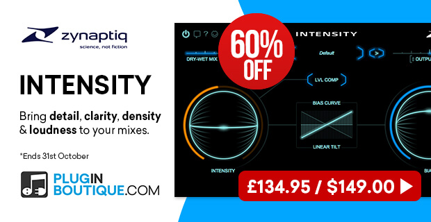 Zynaptiq INTENSITY Sale, save 60% off at Plugin Boutique