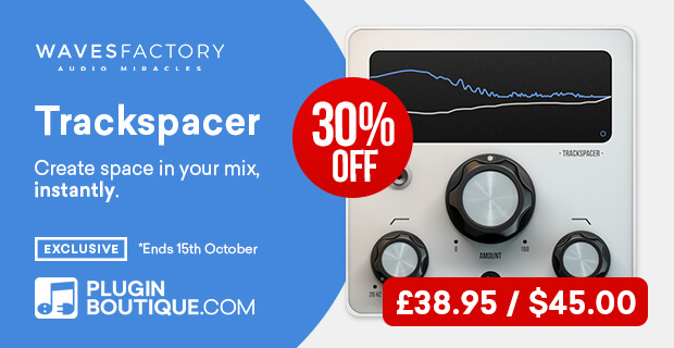 Wavesfactory TrackSpacer Sale, save 30% off at Plugin Boutique