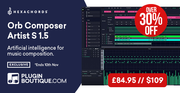 Hexachords Orb Composer Artist S 1.5 Sale (Exclusive), save 30% off at Plugin Boutique