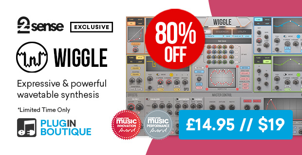 2nd Sense Audio WIGGLE Sale (Exclusive), save 80% off at Plugin Boutique