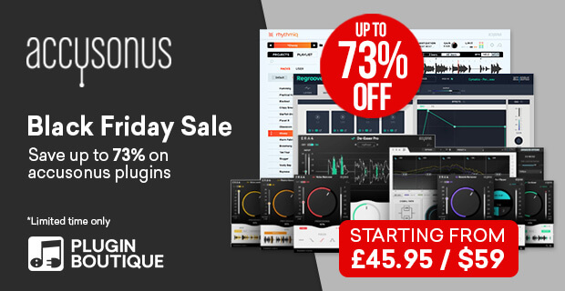 accusonus Black Friday Sale, save up to 73% at Plugin Boutique