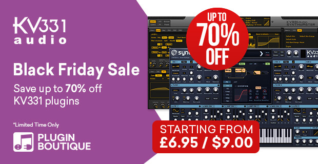 KV331 Audio Synthmaster Black Friday Sale, Save 70% at Plugin Boutique