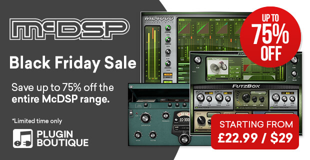McDSP Black Friday Sale, Save at Plugin Boutique