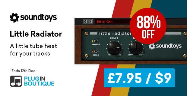 Soundtoys Little Radiator Flash Sale, save 88% off at Plugin Boutique