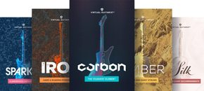 Virtual guitarist bundle packaging pluginboutique