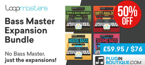 15 loopmasters bassmaster expansion bundle cybermonday new pluginboutique %282%29